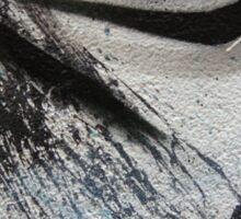 dragon lines and splatter diptych Sticker