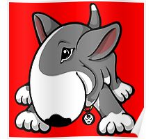Let's Play English Bull Terrier Grey  Poster