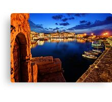 The old Venetian port of Rethymno - Crete Canvas Print