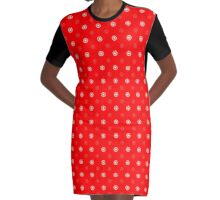 Red Polka Dots Graphic T-Shirt Dress