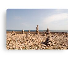 Holy Island Mini Structures Canvas Print