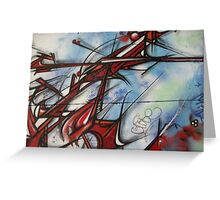 graffiti - dragon like lines Greeting Card