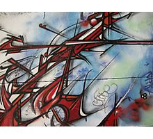 graffiti - dragon like lines Photographic Print