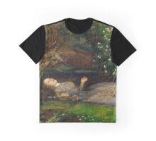 Ophelia - John Everett Millais - 1852 Graphic T-Shirt