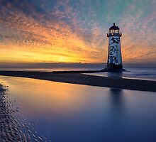 Sunset Lighthouse by Adrian Evans