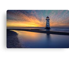 Sunset Lighthouse Canvas Print