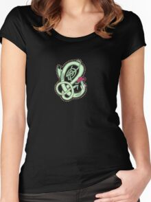 Oscar Letter E Tee Women's Fitted Scoop T-Shirt