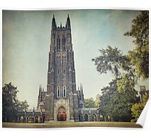 Autumn at Duke Chapel Poster