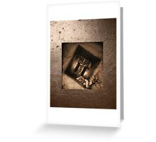 induced coma .VERS, 3 Greeting Card