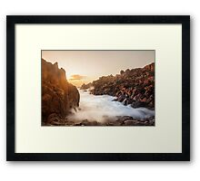 Sunset at Vazon, Guernsey Framed Print