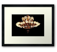 Saloon Chandelier Framed Print