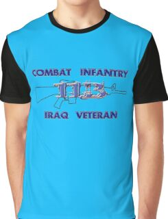 11Bravo - Combat Infantry - Iraq Veteran Graphic T-Shirt