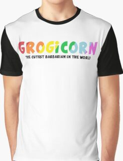 GROGICORN! (Black) Graphic T-Shirt