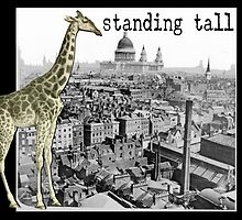 Standing Tall Giraffe in London HNTM Greeting Card by historicnature