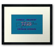 11Bravo - Combat Infantry - Vietnam Veteran Framed Print