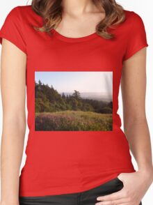 2015.04.03 1060696 Wildflowers and Redwoods Mike Stuart Women's Fitted Scoop T-Shirt