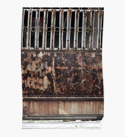rusty door Poster