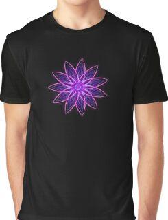 Fractal Flower - Purple Graphic T-Shirt