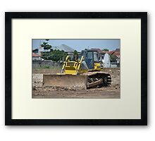 yellow bulldozer Framed Print