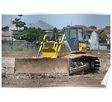 yellow bulldozer Poster