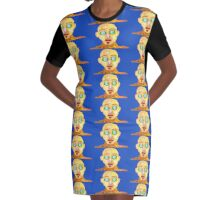 Biggle Eyes Graphic T-Shirt Dress