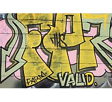 Newtown Graffiti #2 Photographic Print