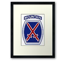 10th Mountain Division Framed Print