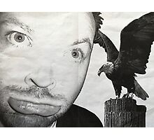 Is that hawk bigger than your face? Photographic Print
