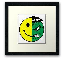 Happy Hulk Face Framed Print