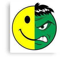 Happy Hulk Face Canvas Print