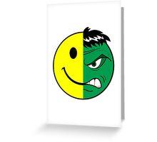 Happy Hulk Face Greeting Card