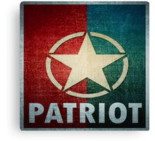 Logo - Patriot Star Canvas Print