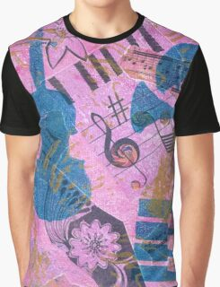 Pink Serenade Faux Chine Colle Graphic T-Shirt