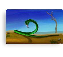Desert Snake Canvas Print
