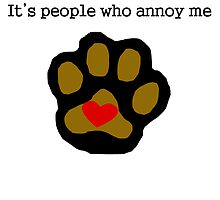 I Love Cats People Annoy Me by kwg2200