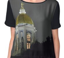 Notre Dame Golden Dome Chiffon Top