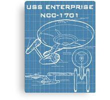 U.S.S. Enterprise Blueprints Canvas Print