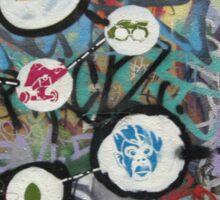 very colourful graffiti icons Sticker