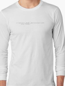 The Linux Trapdoor Hack of 2003 Long Sleeve T-Shirt