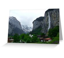 Lauterbrunnen, Late Afternoon Greeting Card