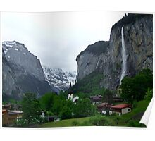 Lauterbrunnen, Late Afternoon Poster