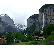 Lauterbrunnen, Late Afternoon Photographic Print