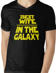 Best Wife in the Galaxy - Title Crawl Mens V-Neck T-Shirt
