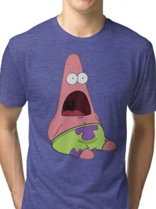 Surprised Patrick Star  Tri-blend T-Shirt