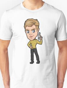 Star Trek Reboot - Captain James T. Kirk Chris Pine Unisex T-Shirt