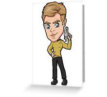 Star Trek Reboot - Captain James T. Kirk Chris Pine Greeting Card