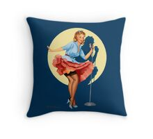 Pin-Up Girl 'In The Spotlight' by Fiona Stephenson Throw Pillow