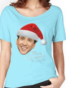 Merry Christmas from St Nic-olas Cage Women's Relaxed Fit T-Shirt