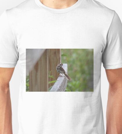 Sweet song sparrow Unisex T-Shirt