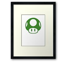 Super Mario Bros 1-Up Mushroom Framed Print